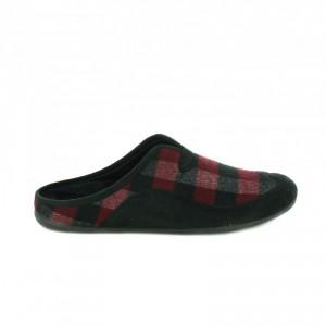zapatillas de casa burdeos y negras