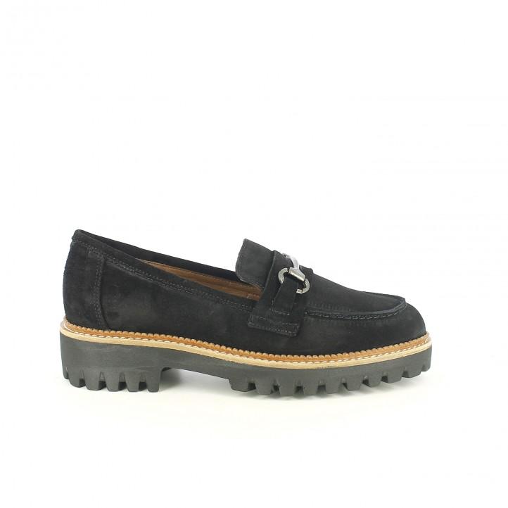 zapatos tacón redlove mocasines de piel negros