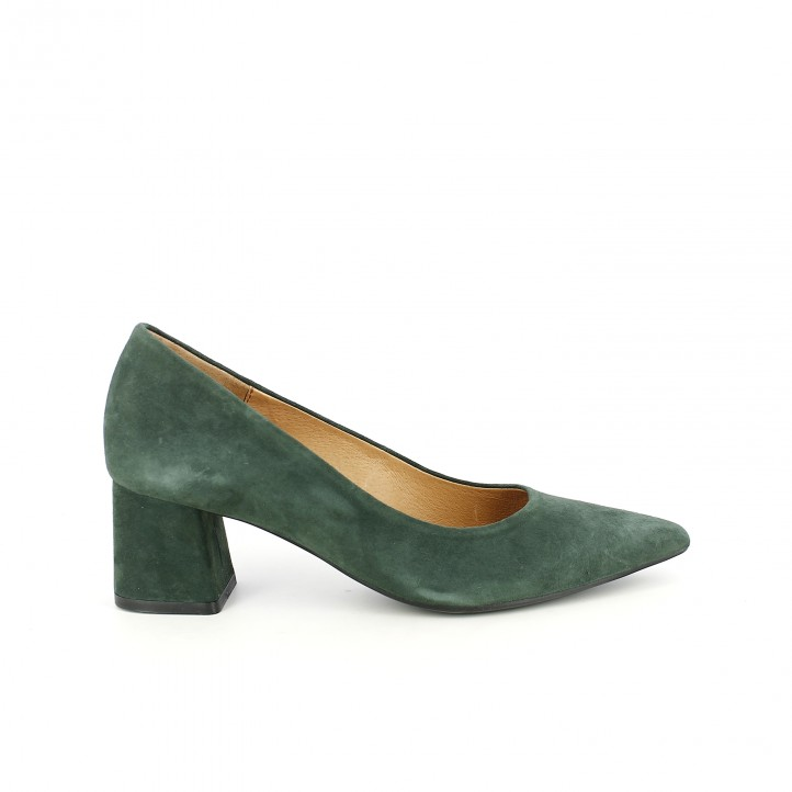 zapatos tacón redlove verdes de piel