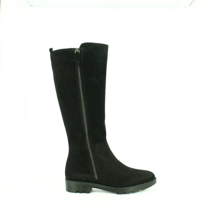 b2b339a85 botas-planas-redlove-negras-de-serraje