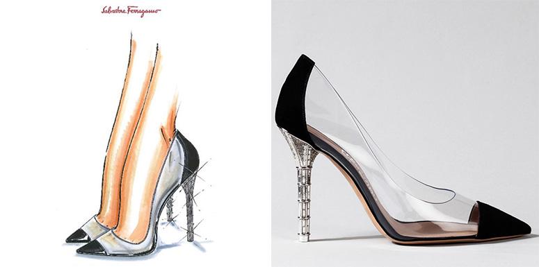 Zapatos de Cenicienta según Salvatore Ferragamo