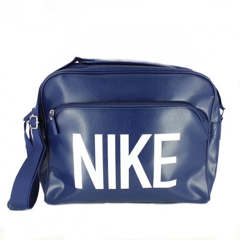 mochila azul nike estilo retro - querol online