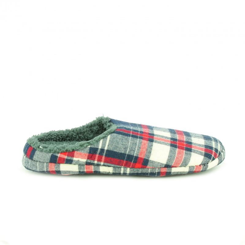 zapatillas casa de cuadros para hombre - querol online
