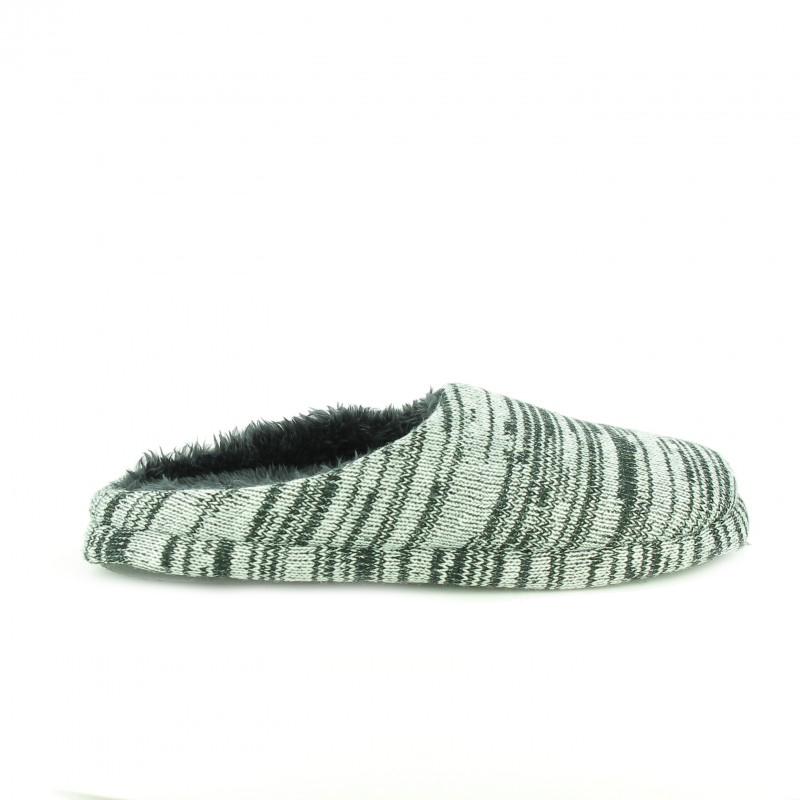 zapatillas casa grises y negras para hombre - querol online