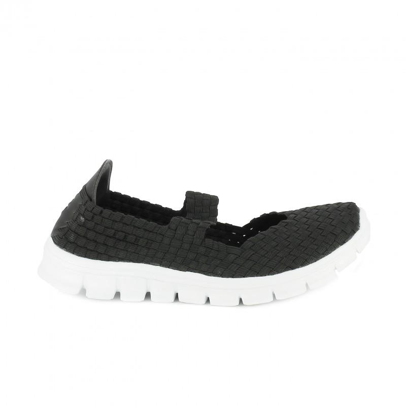 zapatillas deportivas trenzadas negras lumberjack - querol online