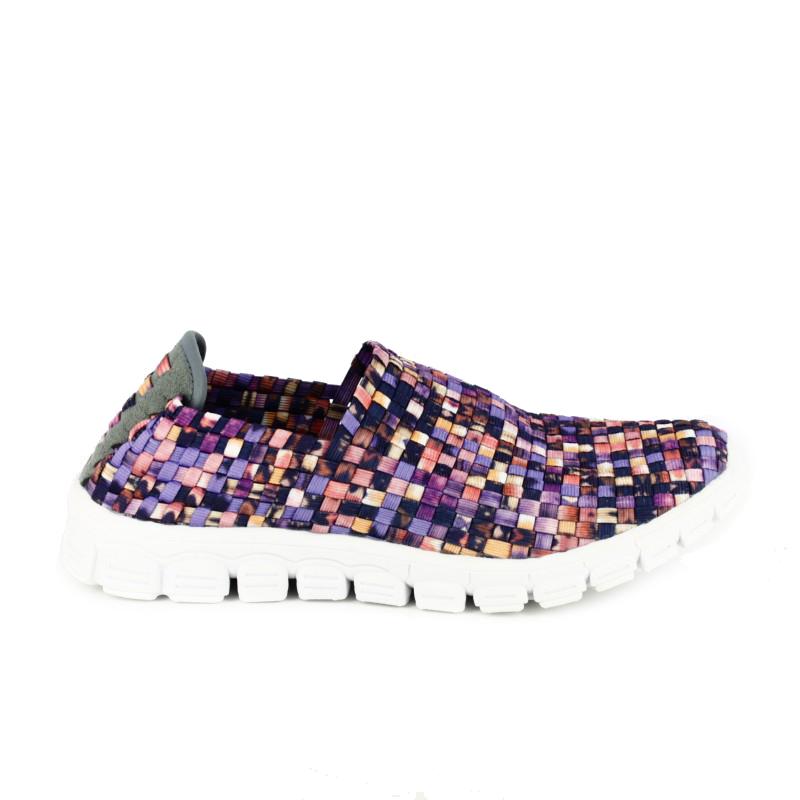 zapatillas deportivas trenzadas cerradas de colores - querol online