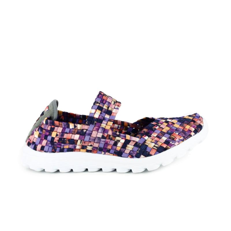 zapatillas deportivas trenzadas de colores - querol online