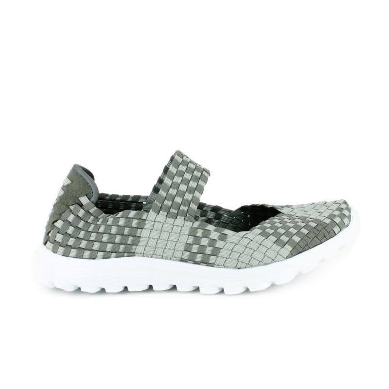 zapatillas deportivas trenzadas de tonos grises - querol online