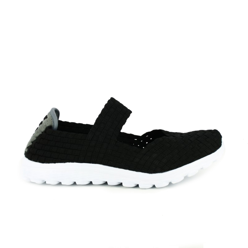 zapatillas deportivas trenzadas negras - querol online