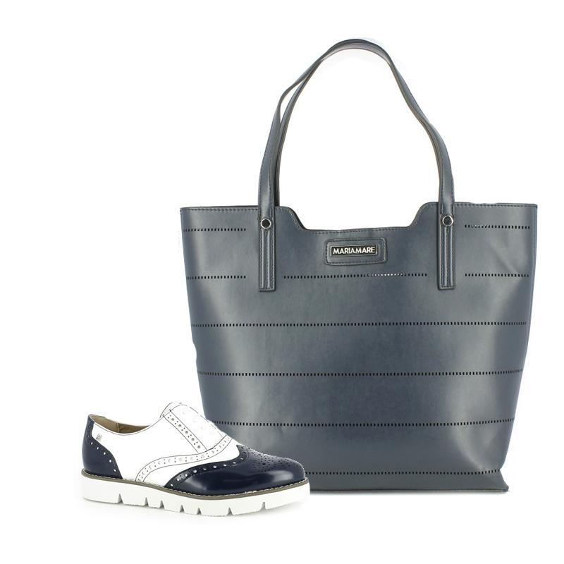 zapatos de moda y bolso azul maria mare - querol online