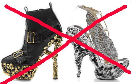 zapatos de ceremonia no recomendables