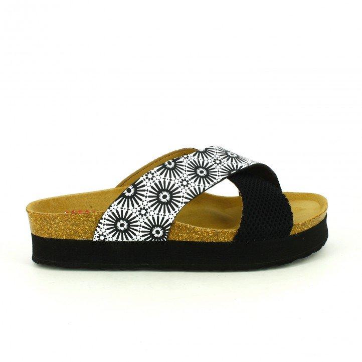 sandalias bio - sandalias-planas-desigual-bios-blancas-y-negras