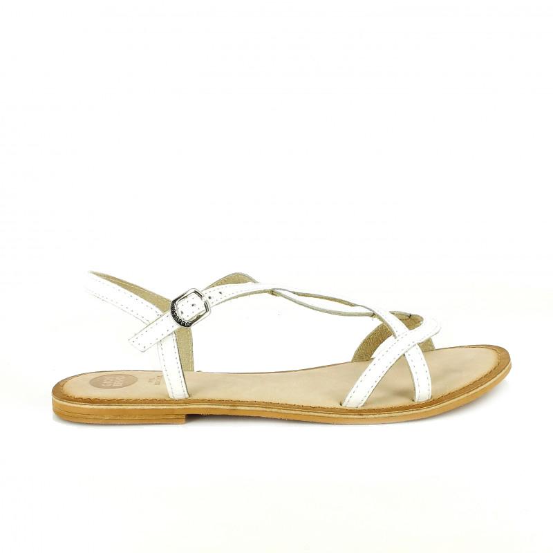 sandalias planas de ceremonia gioseppo blancas