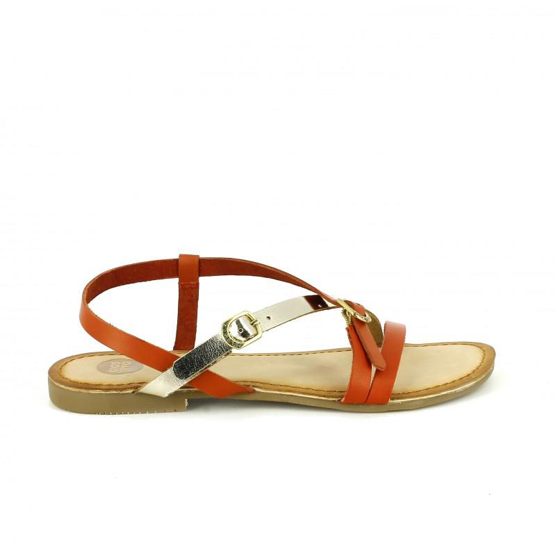sandalias de ceremonia gioseppo rojas y doradas - querol online