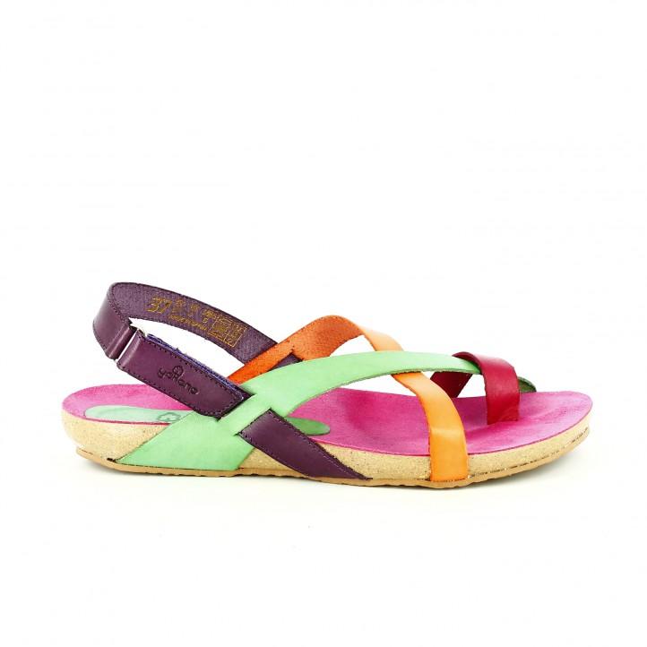 sandalias-planas-yokono-lilas-verdes-naranjas-y-rosas-de-piel