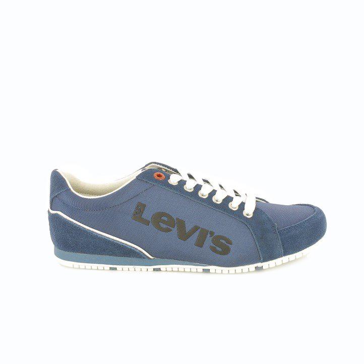 63d29bae ... zapatos levis ante azul con logo bordado - querol online ...