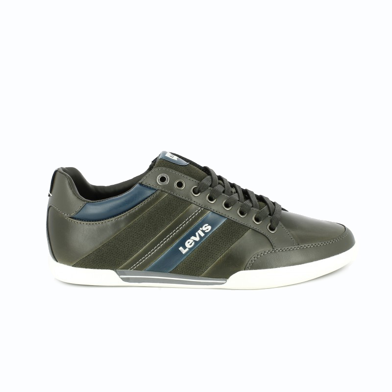 zapatos levis piel grises y azules - querol online