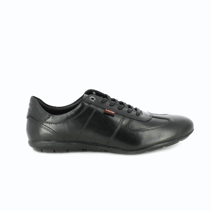 zapatos levis negros de piel para hombre - querol online