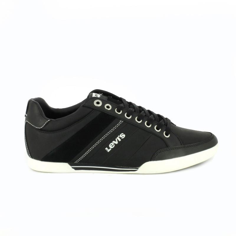 zapatos levis negros de piel - querol online