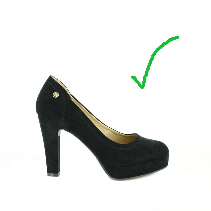 zapatos ante negro xti con plataforma - querol online