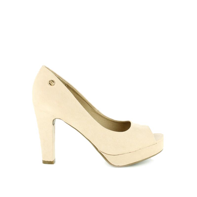 zapatos de tacon XTI mujer beige suela plataforma - querol online