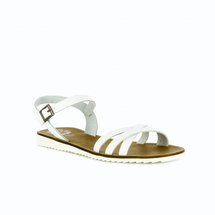 sandalias planas blancas porronet