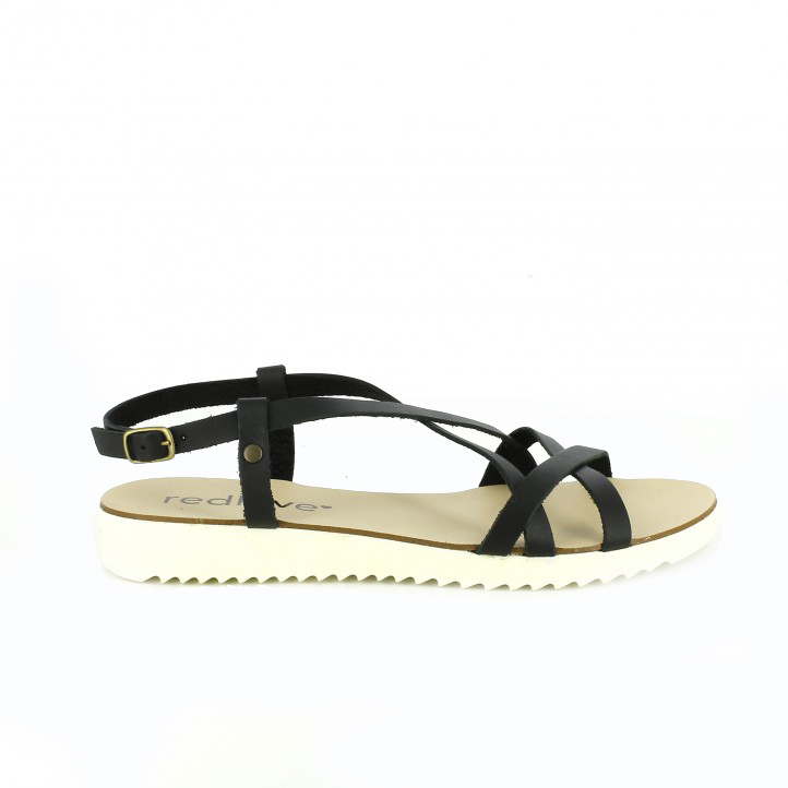 zapatos low cost sandalias planas negras redlove - Querol Online