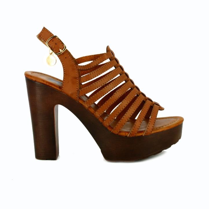 zapatos low cost sandalias romanas tacon - Querol Online