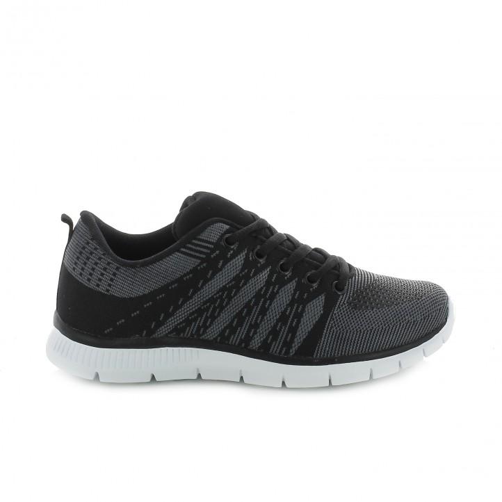 zapatillas deportivas negras you too - Querol Online