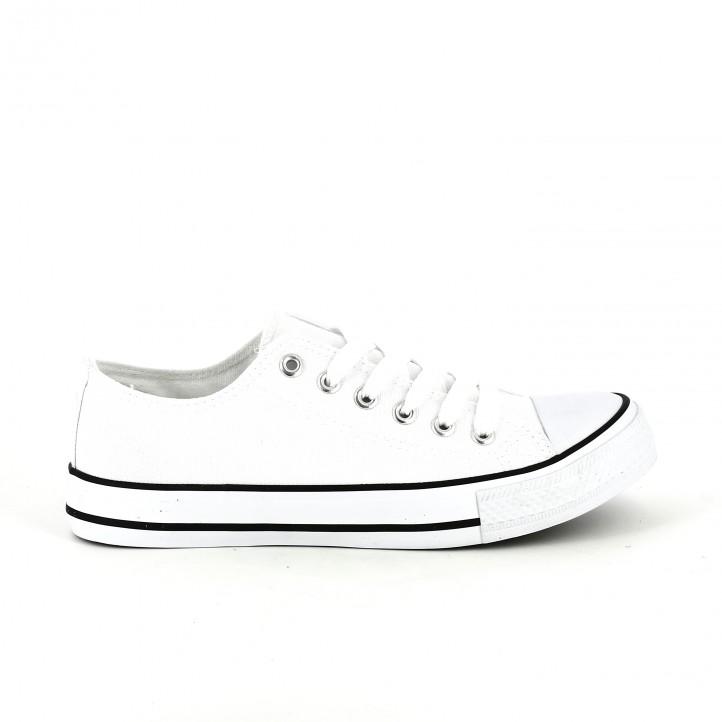 zapatillas tipo converse blancas youtoo - querol online