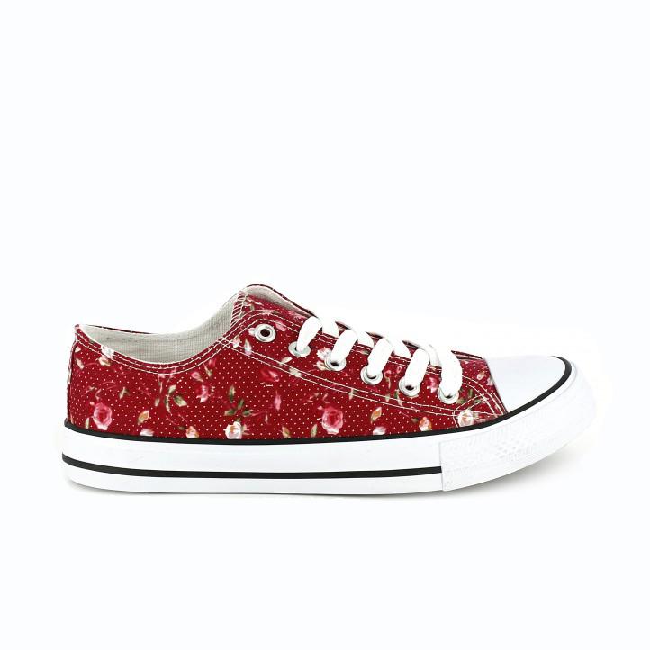 zapatillas tipo converse estampado flores youtoo - querol online