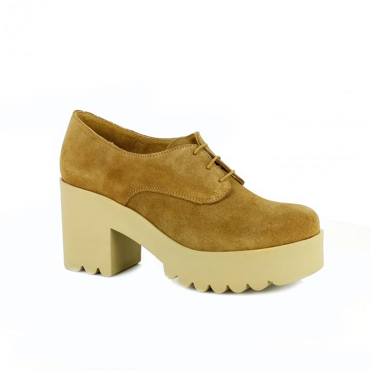 zapatos tacón redlove de piel con suela track