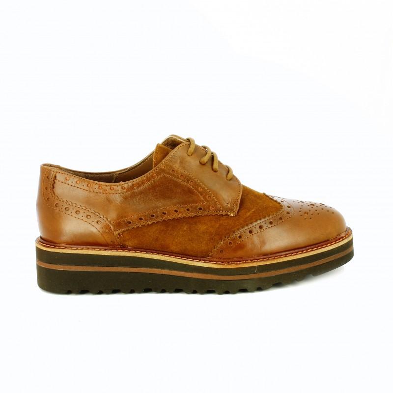 zapatos-planos-redlove-bluchers-marrones-piel