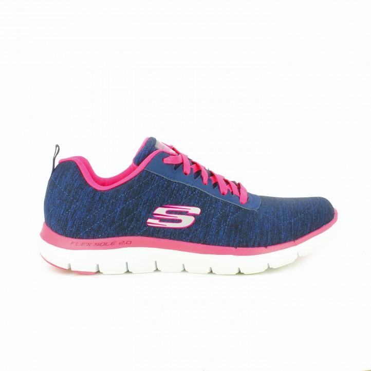 zapatillas-deportivas-skechers-azules-y-rosas-suela-flexible