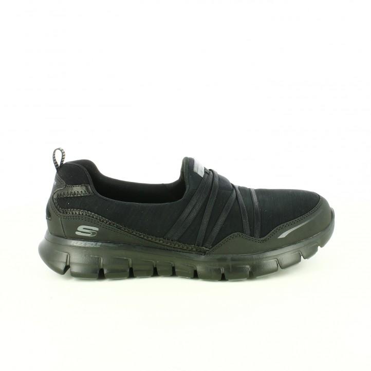 9b80bba544d03 ... zapatillas-deportivas-skechers-negras-sin-cordones-flexibles