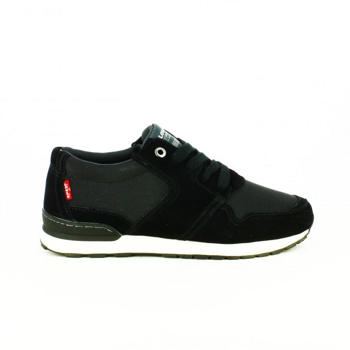 zapatos levi's otoño zapatos-sport-levis-negras-con-comfort-tech