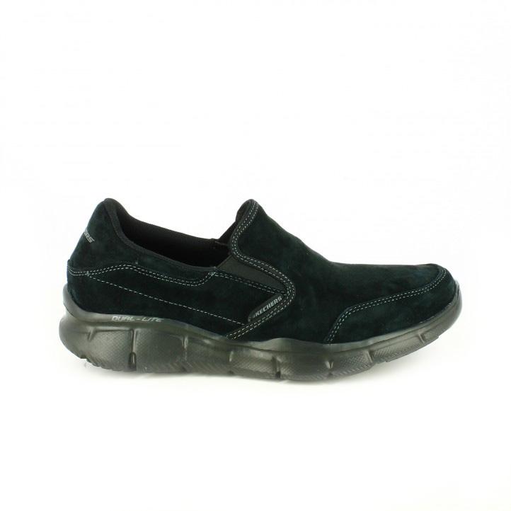 e1ffc68d12b zapatillas-deportivas-skechers-negras-con-suela-flexible zapatos-sport- skechers-mocasines-piel-con-memory-foam ...