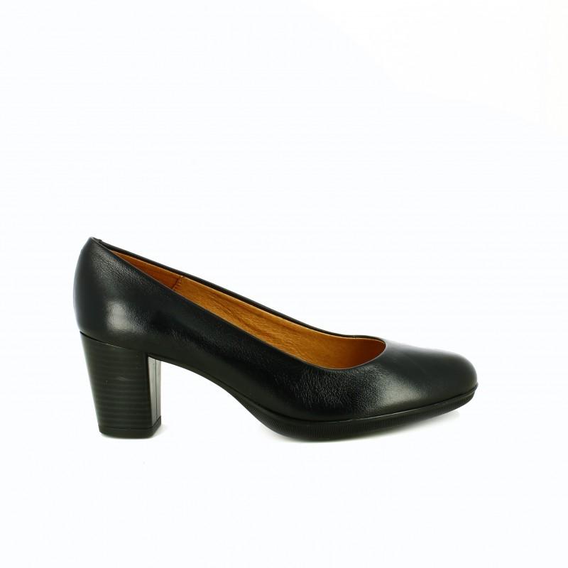 zapatos tacon suite009 negros clasicos de piel