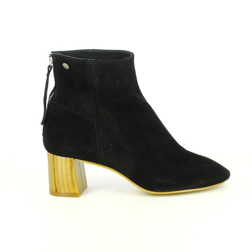 botines con tacon de madera  - tendencias en calzado para 2017