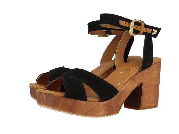 sandalias con suela de madera  - tendencias en calzado para 2017