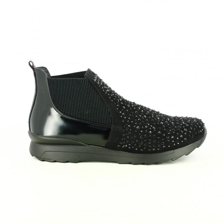 zapatillas deportivas francesco milano altas con brillantes - segundas rebajas de zapatos