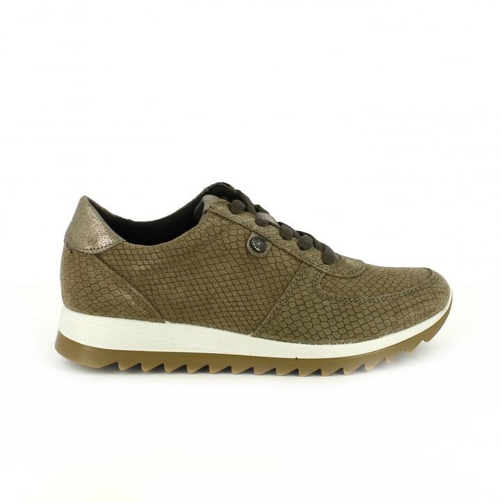 zapatillas deportivas imac animal print taupe - segundas rebajas de zapatos