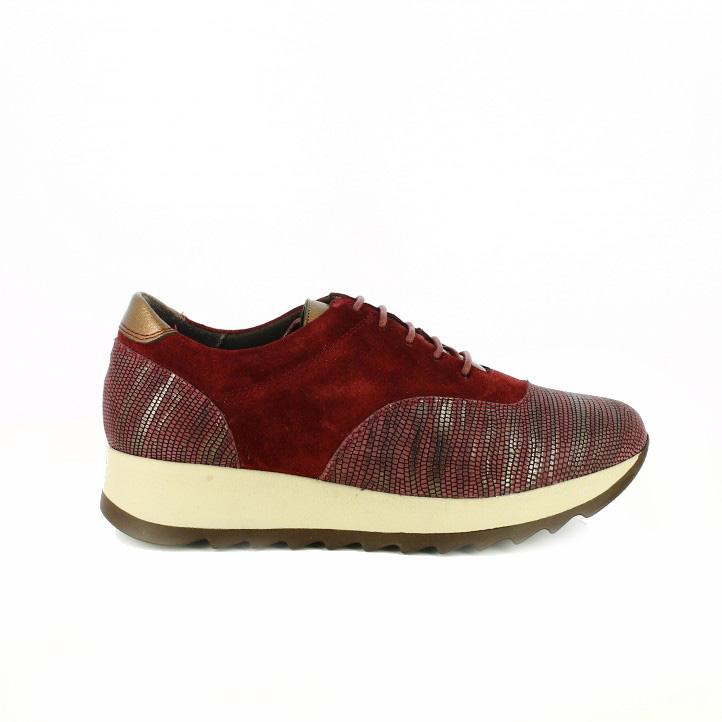 zapatillas deportivas lola torres burdeos y bronce - segundas rebajas de zapatos