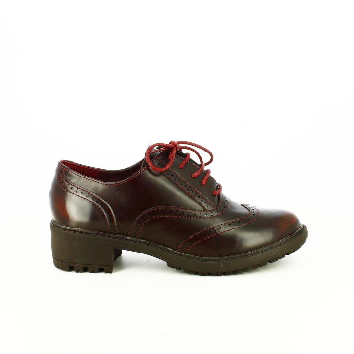 zapatos tacon you too oxford burdeos - segundas rebajas de zapatos