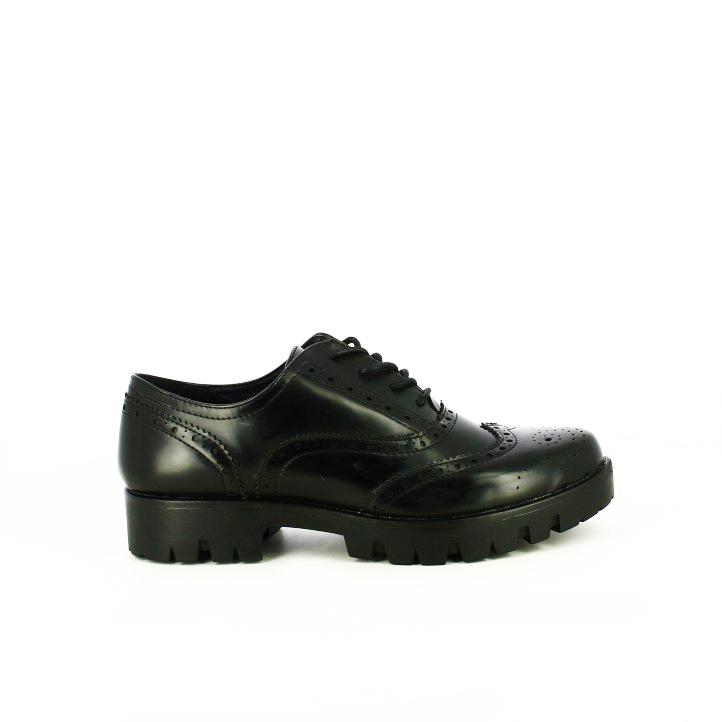 zapatos tacon you too oxford negros con brogue - segundas rebajas de zapatos