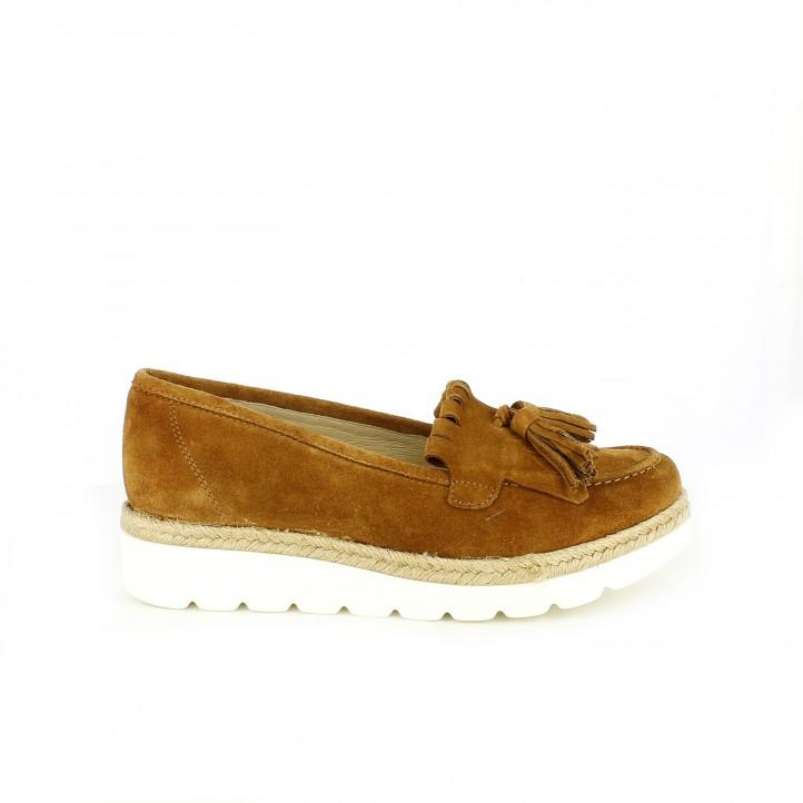 zapatos que amarás - mocasines redlove marrones de piel con flecos