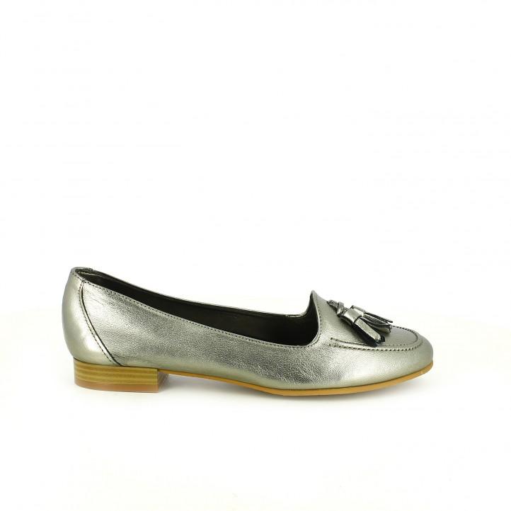 zapatos que amarás - mocasines suite009 plateados