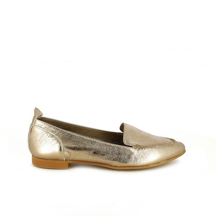 zapatos que amarás - mocasines wonders dorados