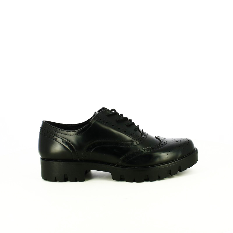 zapatos tacon you too oxford negros con brogue // Precios de derribo