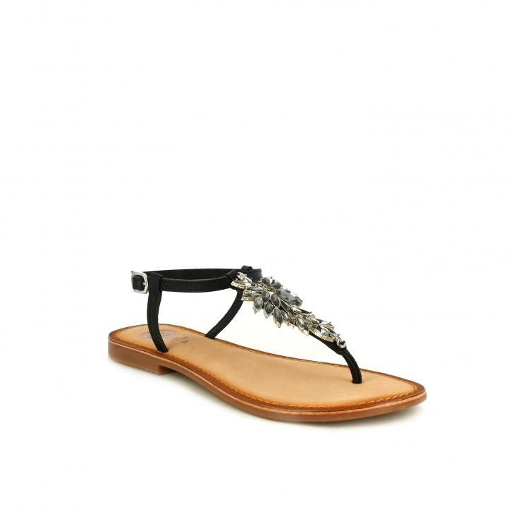 zapatos de fiesta / sandalias planas gioseppo negras joya